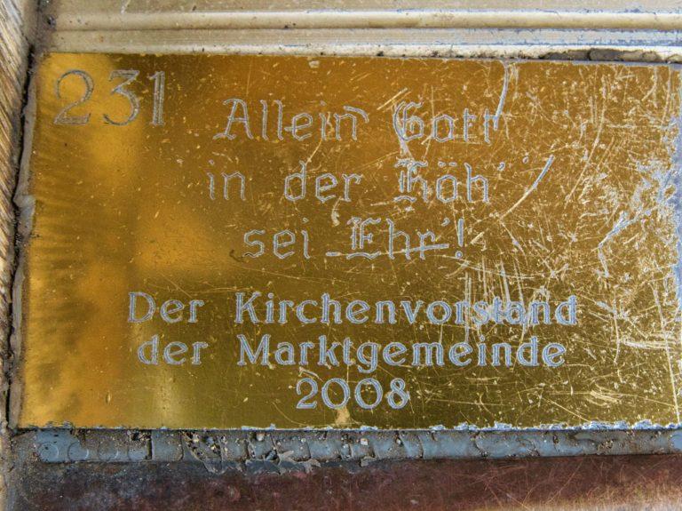 Goslar - Turmbesteigung Marktkirche - letzte Stufe