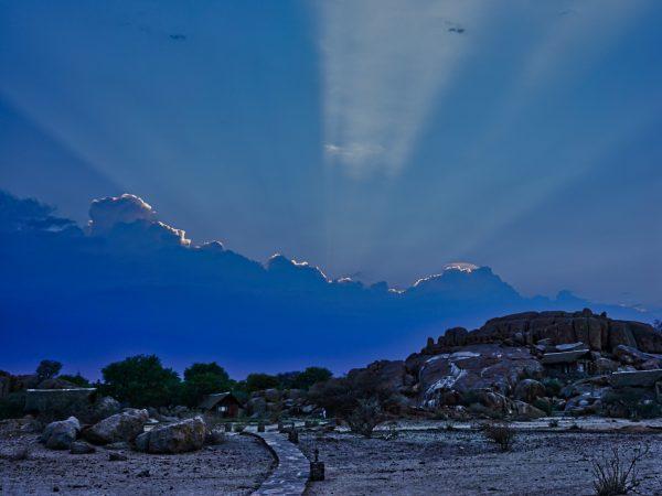 Sonnenaufgang auf der Canyon-Lodge
