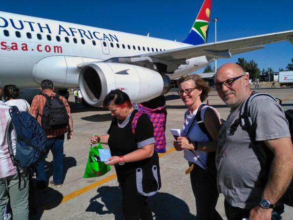 Rückflug nach Johannesburg